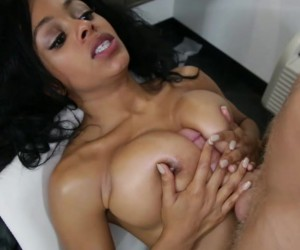 TittyAttack Big Boobs Anya Ivy Ebony Titjob and Cumshot Facial