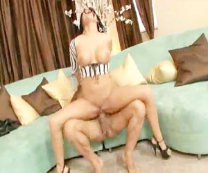 Busty Big Tits MILF in Heels Doggystyle Fucking