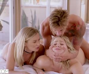 VIXEN Big Titty blonde Babes Mia Malkova and Natalia Starr Threesome Squirting