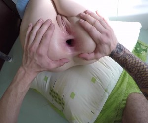Daddy gives his Big Booty PAWG Princess a Gaping Anal Creampie