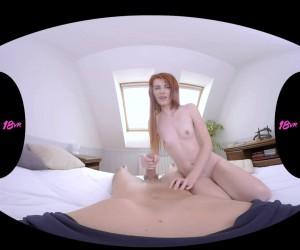 18yo Redhead with Small Tits POV Tugjob