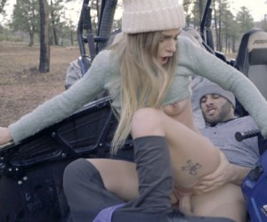 Sydney Cole Perky Teen Tits Outdoor Gangbang Orgy