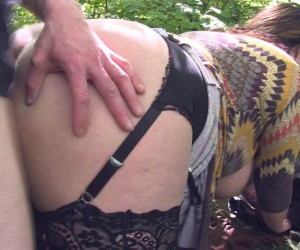 Big Booty MILF with Big Natural Tits getting Ass Fucked Outdoors