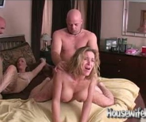 Busty Housewife Swapping Group Sex