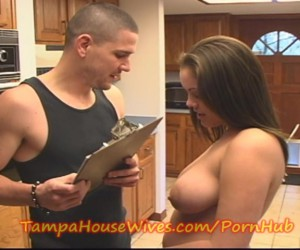 Natural Big Tits Housewife with Huge Nipples