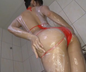 Fumina Suzuki's Nice Wet Tits and Soapy Ass