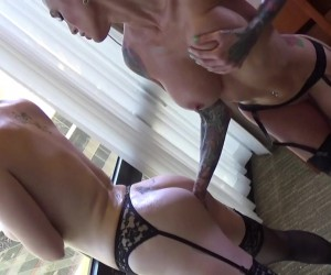 Big Ass Lesbians Lauren Phillips and Sarah Jessie Suckign Huge Oiled Boobs
