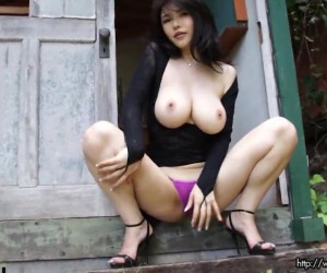 Pissing Asian MILF Graphis Okita with Nice Japanese Tits
