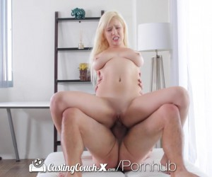 CastingCouch X Busty blonde babe Kylie Page with perfect big tits fucking
