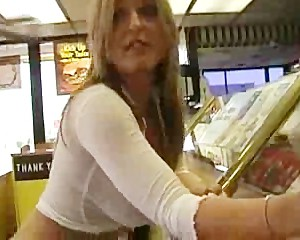 Real Amateur Blonde Tits Flashing in Public