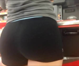 Natural Big Tits and a Tight Ass in Volleyball Booty Shorts