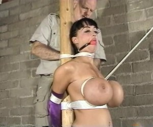 Summer Cummings Big Titty DP Bondage